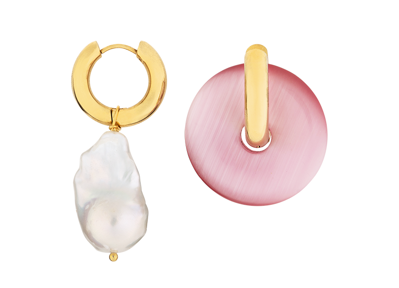 Rose earring by Timeless Pearly