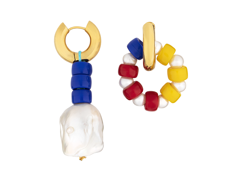 Carnaval earring by Timeless Pearly