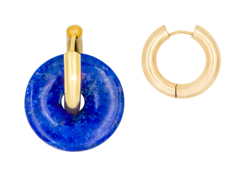 Lapis donut earring by Timeless Pearly