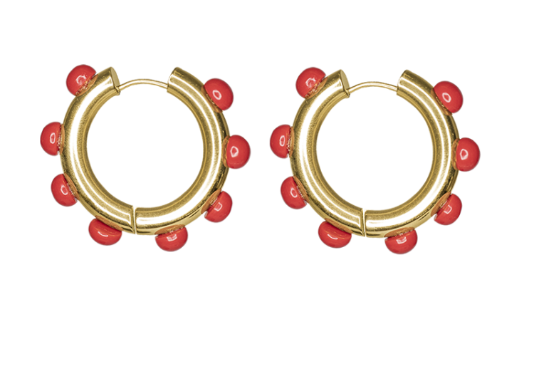 Ladybirds earring by Timeless Pearly