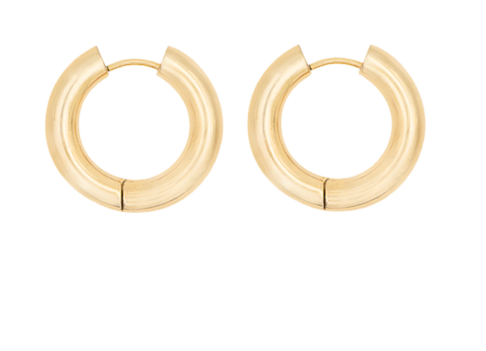 gold plated hoop by Timeless pearly