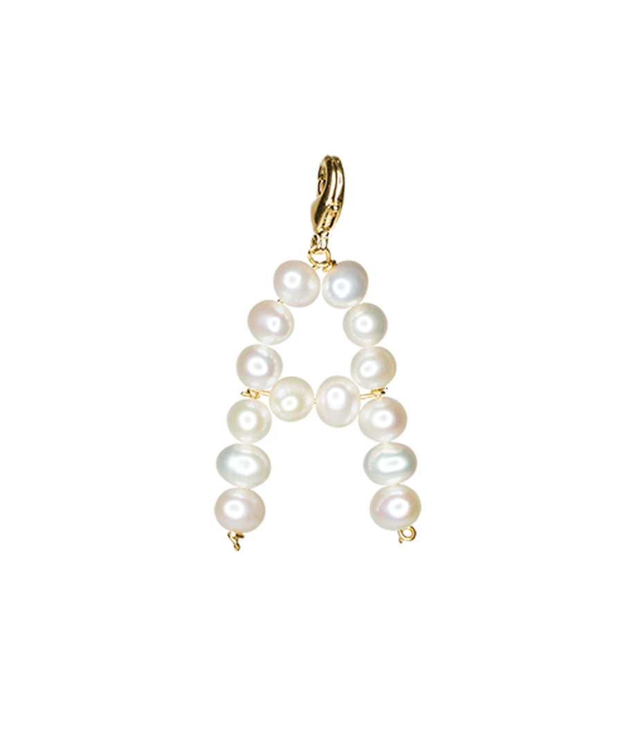 White alphabet by Timeless Pearly
