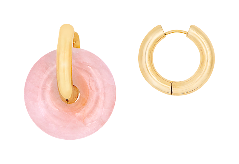 nude donut earring by Timeless Pearly