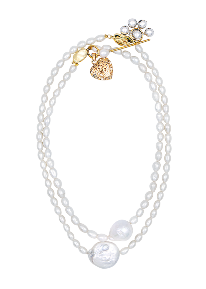 Litchi necklace by Timeless pearly