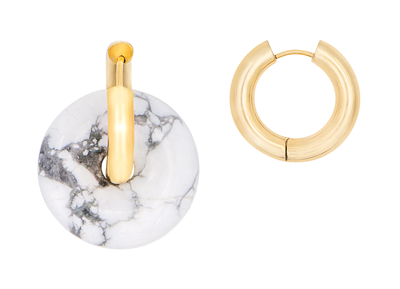 Marble donut earring by Timeless Pearly
